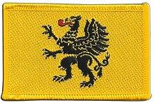 Flaggen Aufnäher Polen Woiwodschaft Pommern Fahne Patch + gratis Aufkleber, Flaggenfritze®
