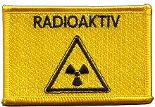 Flaggen Aufnäher Radioaktiv Fahne Patch + gratis Aufkleber, Flaggenfritze®