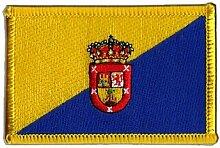 Flaggen Aufnäher Spanien Gran Canaria Fahne Patch + gratis Aufkleber, Flaggenfritze®