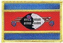 Flaggen Aufnäher Swasiland Fahne Patch + gratis Aufkleber, Flaggenfritze®