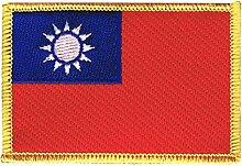 Flaggen Aufnäher Taiwan Fahne Patch + gratis Aufkleber, Flaggenfritze®