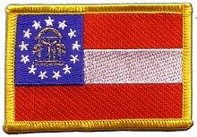 Flaggen Aufnäher USA Georgia Fahne Patch + gratis Aufkleber, Flaggenfritze®