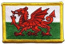 Flaggen Aufnäher Wales Fahne Patch + gratis Aufkleber, Flaggenfritze®