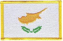 Flaggen Aufnäher Zypern Fahne Patch + gratis Aufkleber, Flaggenfritze®