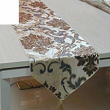 Flaggen der Europ?ischen Stil Esstisch/Couchtisch-Tischl?ufer/TV-Schrank gepolsterte Abdeckung Handtuch/Flagge der moderne westliche Küche-A 34x220cm(13x87inch)