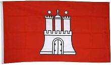 Flaggenfritze® Fahne Flagge Hamburg 90 x 150 cm