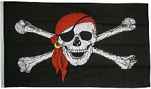 Flaggenfritze Fahne/Flagge Pirat mit Kopftuch -