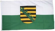 Flaggenfritze® Fahne Flagge Sachsen 60 x 90 cm