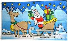 Flaggenfritze® Flagge/Fahne Weihnachtsmann mit