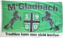 Flaggenfritze® Flagge Fanflagge Mönchengladbach - Tradition kann man nicht kaufen - 90 x 150 cm