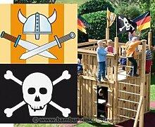 Flaggenset Jungs für Spielturm, 2er Set - Kinderspielgeräte für Garten, Spielgeräte für Kinder, Spielturm, Spieltürme