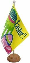 Flagmania® Tischflagge Happy Ostern mit