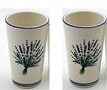 Flair 2er Becher Set Lavendel Badset