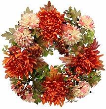 Flair Flower Kranz Dahlie/Chrysantheme mit