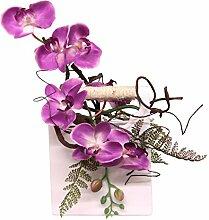 Flair Flower Orchidee in Keramikvase, Stoff,