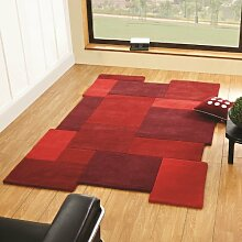 Flair Rugs Abstract Collage Rot Wool Abstrakt