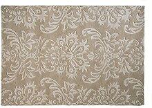 Flair Rugs Decotex Woll-Teppich mit Muster, handgefertigt (160cm x 230cm) (Beige)