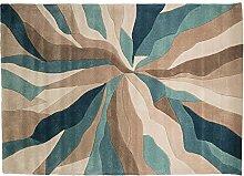 Flair Rugs Infinite Teppich mit Splitter-Design (80cm x 150cm) (Petrol)