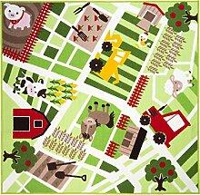 Flair Rugs Kinder Teppich mit Bauernhof-Motiv