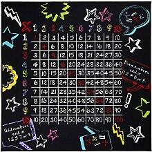 Flair Rugs Kinder Teppich mit Multiplikationstabelle (133cm x 133cm) (Schwarz)