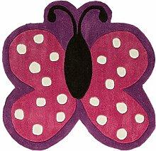 Flair Rugs Kinder Teppich mit Schmetterling-Design