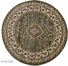 Flair Rugs Sincerity Sherbourne Teppich mit Muster, rund (133cm x 133cm) (Grün)