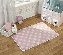 Flair Rugs Teppich für Kinderzimmer, bedruckt, Punkte, Print Polka Dots Kinder- Teppich, pink, 70x 100cm