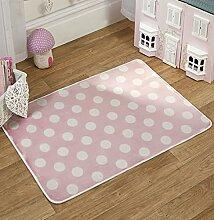 Flair Rugs Teppich, gepunktet, Pink/Weiß,