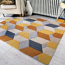 Flair Rugs Teppich Infinite Scope Handtuft Teppich, ocker, 120 x 170 cm