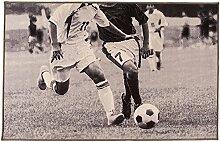 Flair Rugs Teppich mit Fußball-Motiv (100cm x 160cm) (Grau)