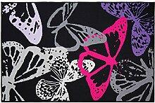 Flair Rugs Teppich mit Schmetterling-Design (100cm