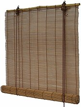Flairdeco 3704160-16018 Bambusrollo, 160 x 160 cm, braun