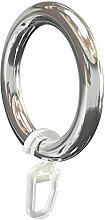 Flairdeco Gardinenringe/Ringe mit Faltenhaken,