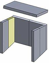 Flamado Feuerraumauskleidung Wandstein geeignet
