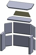 Flamado Isolierstein 390x100x20mm (Schamotte)