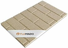 Flamado Vermiculiteplatten Steinwand Muster 800 x