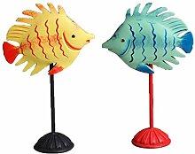 FLAMEER 1 Paar Fischfigur Dekofiguren Küssende