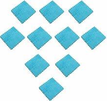 FLAMEER 10er-Set Plüsch Puzzlematte Bodenmatte