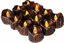 FLAMEER 12pcs Elektrische LED Teelichter Kerzen