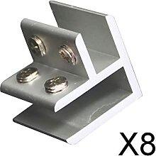 FLAMEER 8X Glashalterungshalter mit Verstellbarem