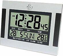 FLAMEER Digital Wanduhr Funkuhr Datum Temperatur