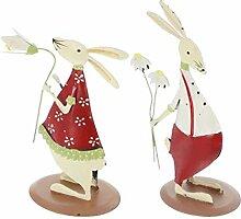 FLAMEER Hase Liebpaar Kaninchen Dekofigur