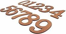 FLAMEER Holz Große 0-9 Hausnummer Zahlen Nummer