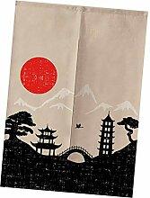 FLAMEER Japanische Türvorhang Balkonvorhang Tür