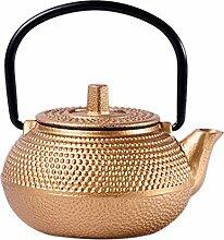 FLAMEER Mini Asiatische Gusseisen Teekanne, 50ml,