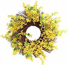 FLAMEER Seide Sonnenblumen Blumenkranz Türkranz