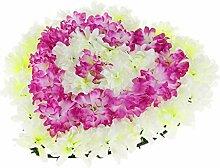 FLAMEER Seiden Chrysantheme Blumen Kranz Dekokranz