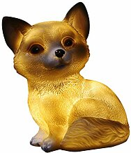 FLAMEER Solarleuchte Tierfigur Dekofigur für