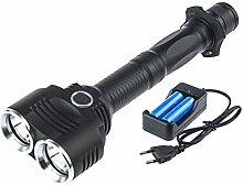 FLAMEER Wiederaufladbar LED Taschenlampe Handlampe