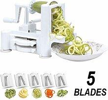 Flamen 5 Klingen Gemüseschneider Zoodle Zucchini